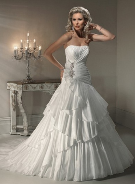 a line wedding dress1