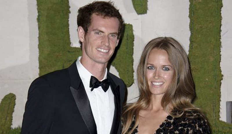 andy murray and kim sears at an event