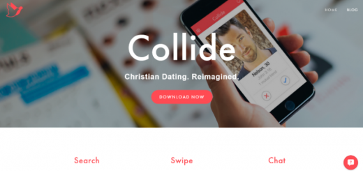 collide christian dating app home page