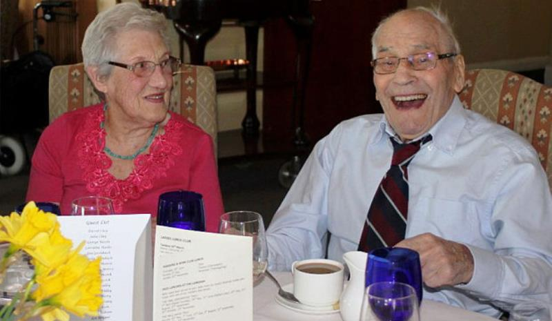 doreen and george pictured at an RAF lunch