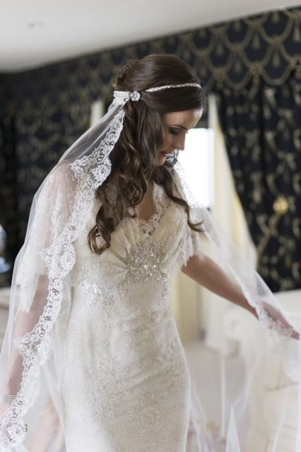 drop wedding veil