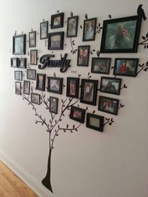 friends and family tree wall