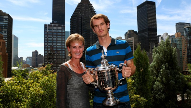 judy murray with son andy