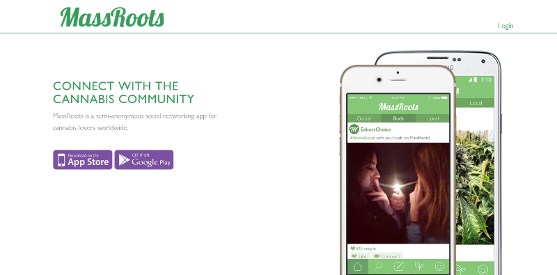 massroots app home page