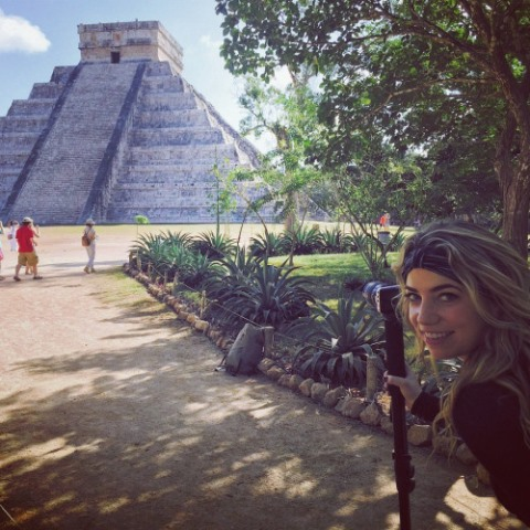 megan in chichen itza, mexico