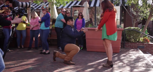 mike rios going down on one knee to pop the question to maggie jensen