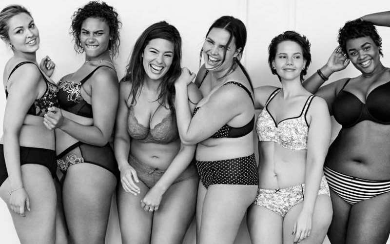 models showing off Lane Bryant's new lingerie line Cacique