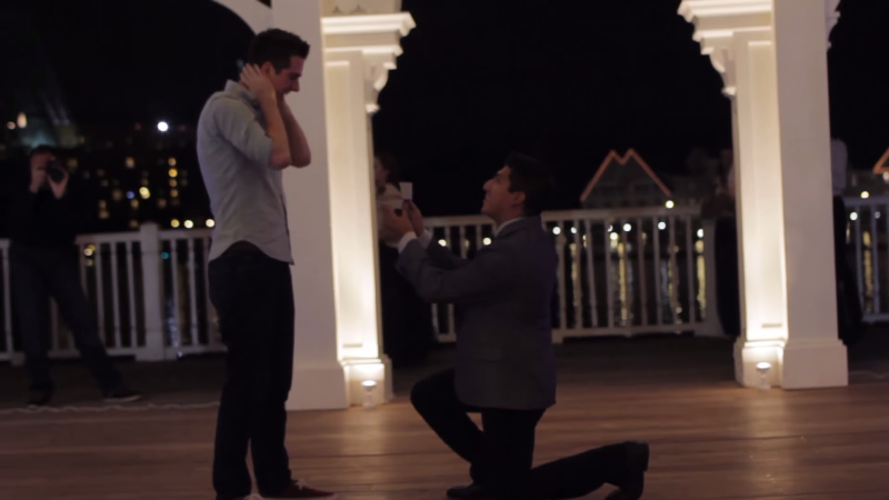 patrick going down on one knee to propose to gavin
