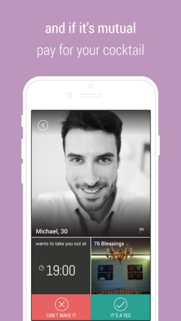 rendeevoo dating app page showing a male user setting up a date