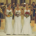 Identical Triplet Sisters Tie The Knot In Joint Wedding Ceremony In Brazil