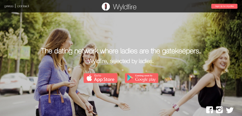 wyldfire dating app home page