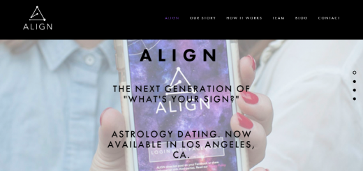 align dating app home page