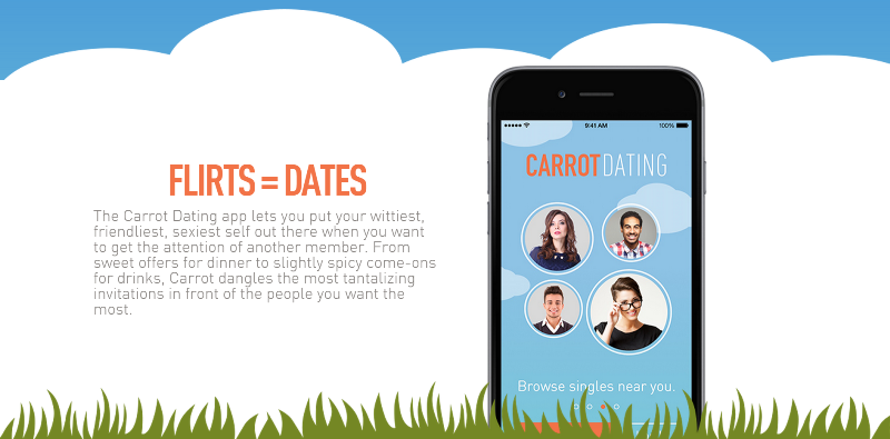 carrot dating app page explaining the 'carrots'