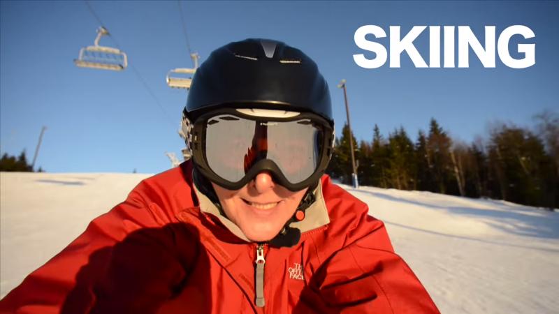 eva likes skiing