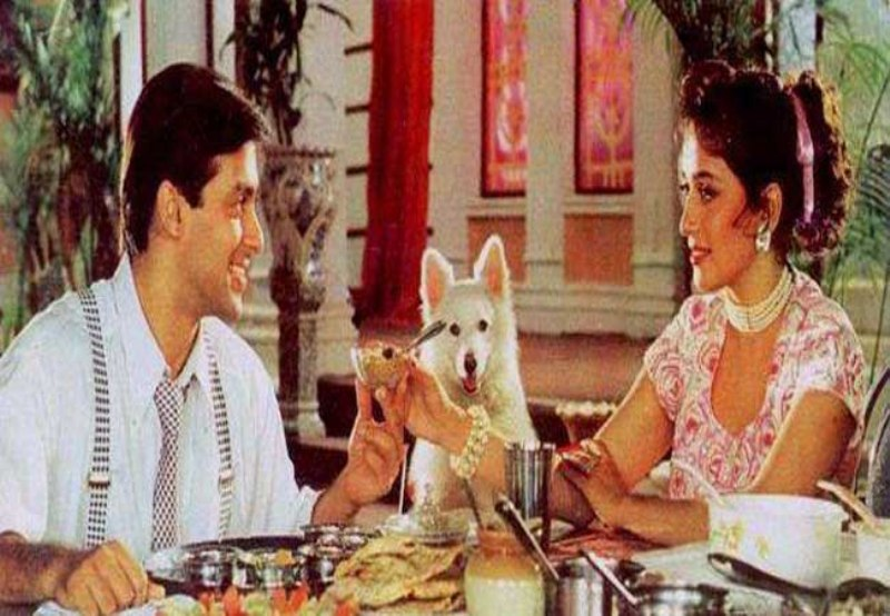 Salman Khan and Madhuri Dixit in Hum Aapke Hain Koun