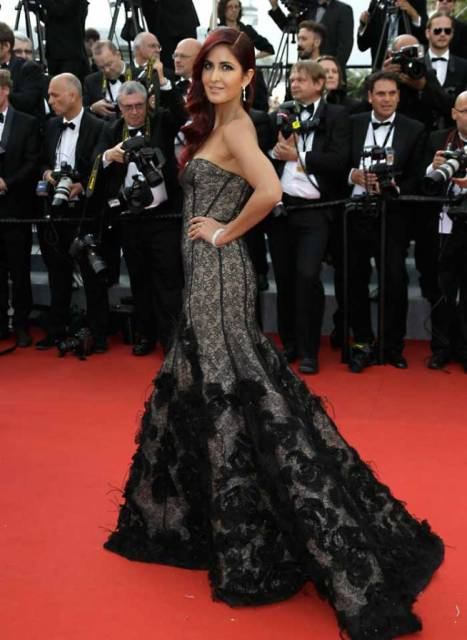 Katrina Kaif in an Oscar de la Renta gown- at Cannes opening ceremony