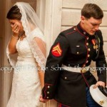 Photographer Snaps Perfect Memorial Day Wedding Picture At Marine's Wedding