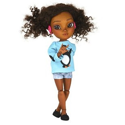 Makies doll- with a hearing aid