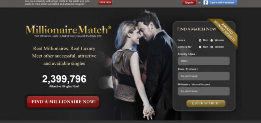 millionairematch home page