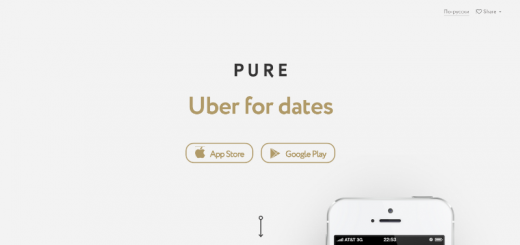 pure dating app home page