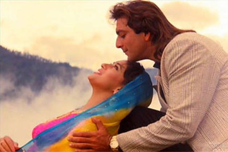 Sanjay Dutt and Madhuri Dixit in Saajan