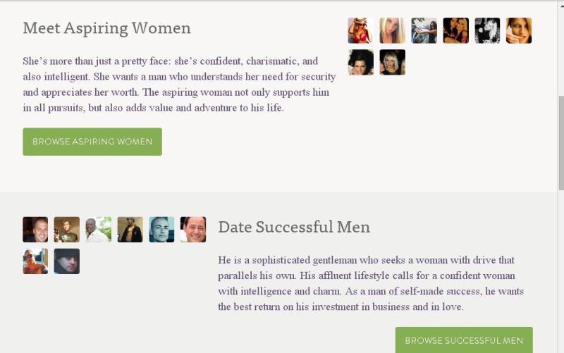 SeekingMillionaire.com, homepage