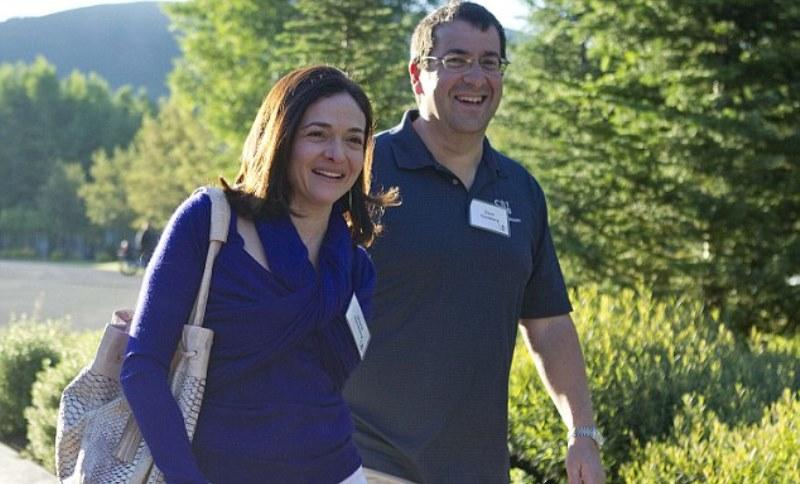 sheryl sandberg with her husband dave goldberg