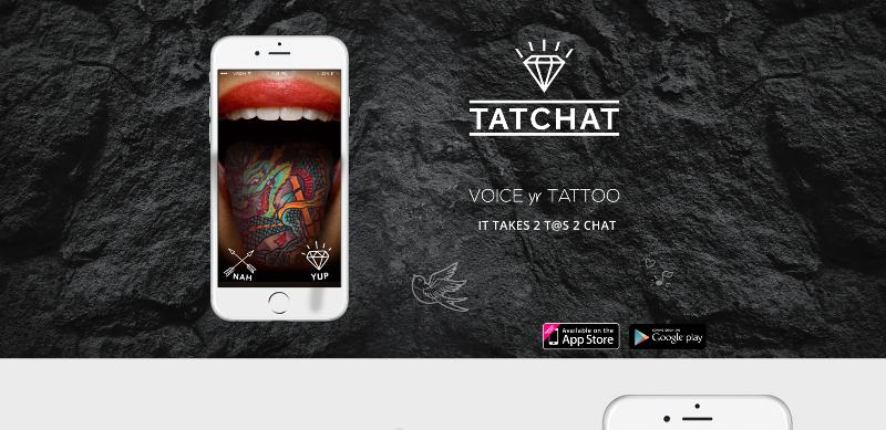 tatchat tattoo app home page