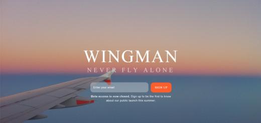 wingman app home page