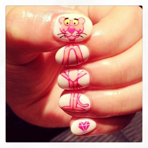 cutesie cartoon nails