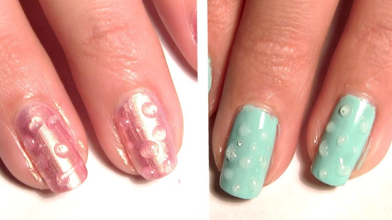 Water droplet nail art