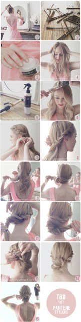 Rope braid bun tutorial