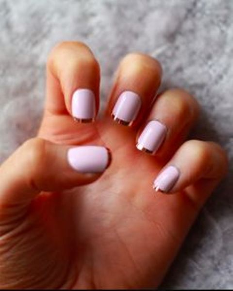 Tippy twist on nude nails