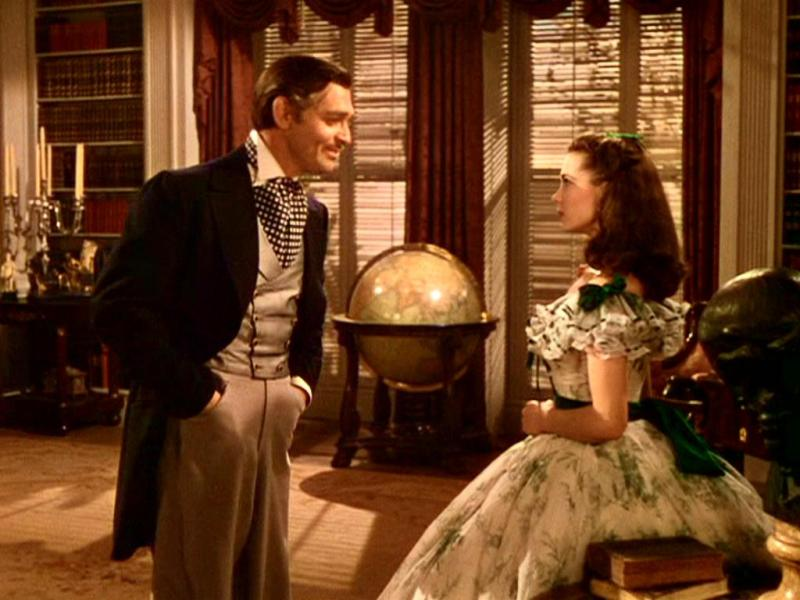 Rhett Butler and Scarlett O'Hara in Gone With The Wind
