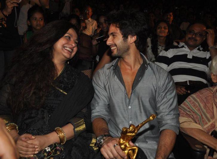 Shahid with his biological mom, Neelima Azim
