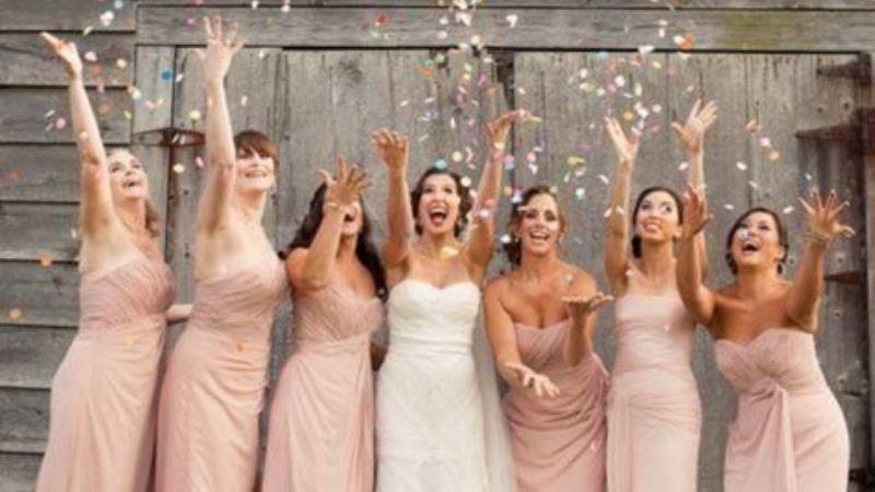 bridal party flower petals