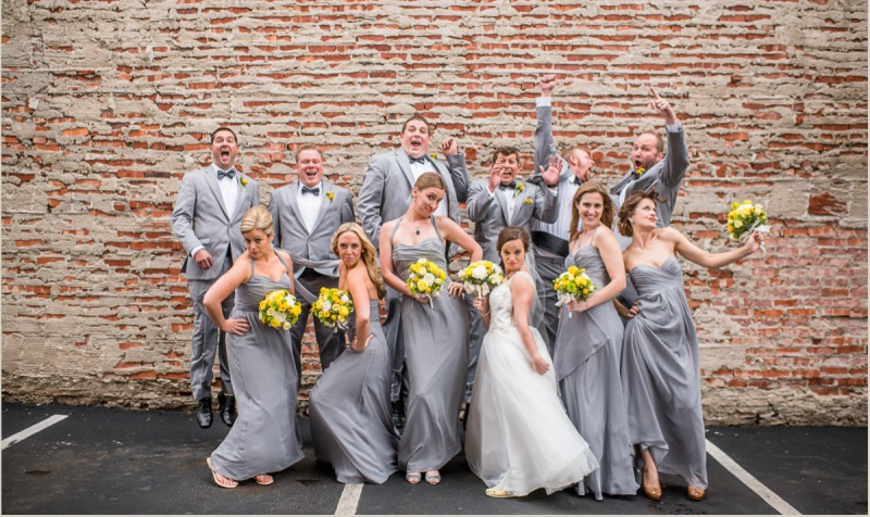 bridal party goofy picture