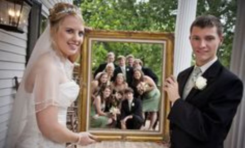 bridal party picture frame