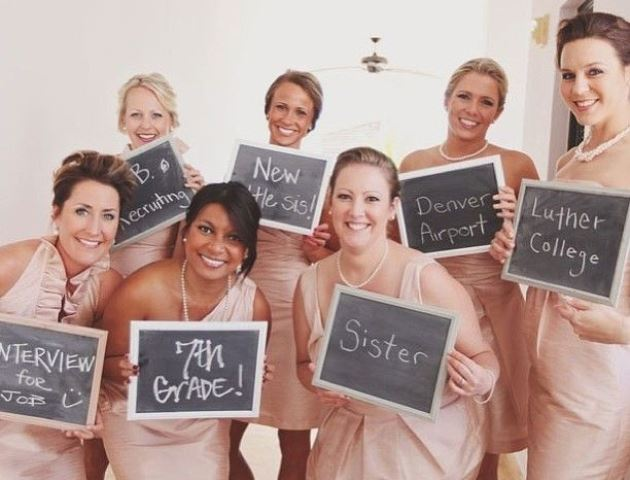 bridal party signs