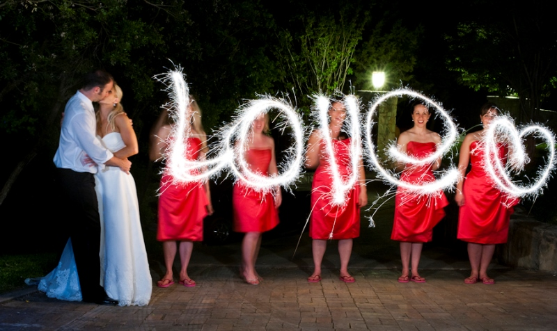 bridal party sparklers