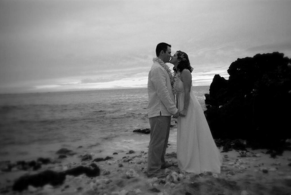And the wedding kiss...