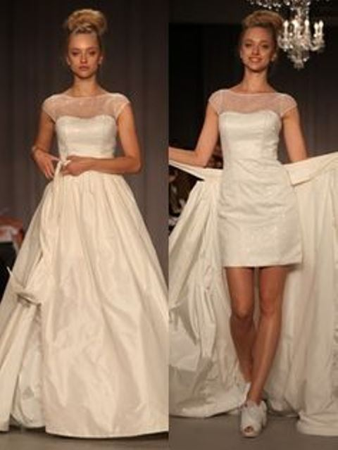 detachable wedding skirt