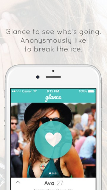 glance dating app page showing a user's profile