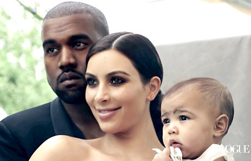 Kanye West, Kim Kardashian with daughter North