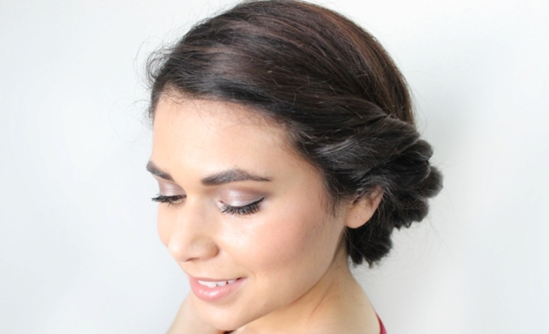 low roll updo front