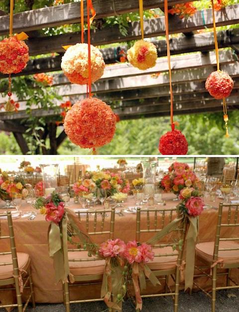 rose ball + pews