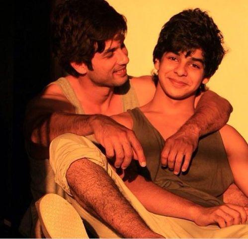 Shahid with half-brother Ishaan