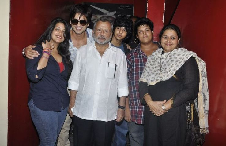 Shahid with family
