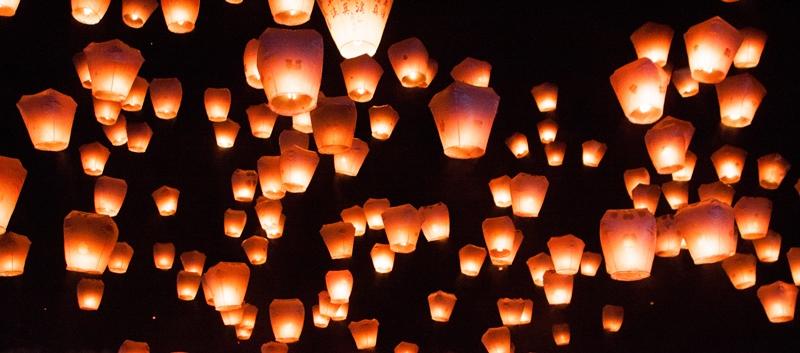 sky lanterns sendoff