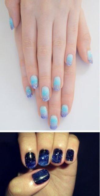 something blue french manicure